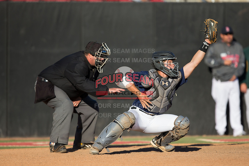 Alex Griffith (64) of Virginia High School in Bristol, Virginia playing for the Atlanta Braves scout team at the South Atlantic Border Battle at Doak Field on November 2, 2014.  (Brian Westerholt/Four Seam Images)