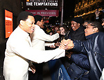 """Derrick Baskin and Jeremy Pope starring in """"Ain't Too Proud: The Life And Times Of The Temptations"""" after their first Broadway preview performance at The Imperial Theatre on February 28, 2019 in New York City."""