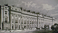 Part of West Side of Regent Street, London. Metropolitan Improvements (1828) Topographical artist Thomas Hosmer Shepherd was commissioned to make drawings of John Nash's Regent Street.