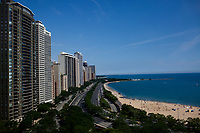The Gold Coast Historic District is pictured along Lake Michigan on Saturday, July 15, 2017, in Chicago, Illinois. (Photo by James Brosher)