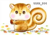 Kayomi, CUTE ANIMALS, paintings, Squirrel_M, USKH206,#AC# stickers illustrations, pinturas ,everyday