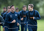 St Johnstone Training…04.07.17<br />Joe Shaughnessy and Blair Alston enjoying training this morning before flying out to Lithunania for Thursday nights Europa League second leg qualifyer ahainst FK Trakai.<br />Picture by Graeme Hart.<br />Copyright Perthshire Picture Agency<br />Tel: 01738 623350  Mobile: 07990 594431