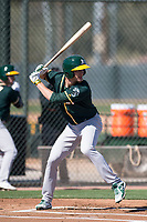 Oakland Athletics infielder Eli White (13) during Spring Training Camp on February 24, 2018 at Lew Wolff Training Complex in Mesa, Arizona. (Zachary Lucy/Four Seam Images)