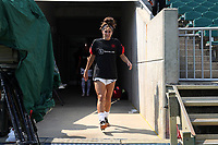 CARY, NC - SEPTEMBER 12: Angela Salem #36 of the Portland Thorns FC takes the field before a game between Portland Thorns FC and North Carolina Courage at Sahlen's Stadium at WakeMed Soccer Park on September 12, 2021 in Cary, North Carolina.