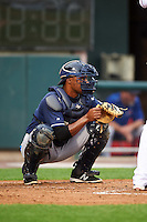 New Hampshire Fisher Cats catcher Wilkin Castillo (14) during a game against the Harrisburg Senators on June 2, 2016 at FNB Field in Harrisburg, Pennsylvania.  New Hampshire defeated Harrisburg 2-1.  (Mike Janes/Four Seam Images)