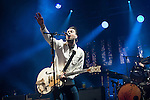 © Joel Goodman - 07973 332324 . 05/06/2015 . Manchester , UK . THE COURTEENERS on stage . Evening concerts featuring headliners , The Courteeners , playing a homecoming gig , at Heaton Park in Manchester in front of 25,000 people , the evening before the Parklife music festival . Photo credit : Joel Goodman