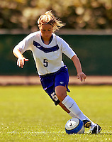 2 September 2007: University of Central Arkansas Sugar Bears' Tara Garza, a Sophomore from Grapevine, Texas, in action against the University of New Hampshire Wildcats at Historic Centennial Field in Burlington, Vermont. The Wilcats shut out the Sugar Bears 3-0 during the TD Banknorth Soccer Classic...Mandatory Photo Credit: Ed Wolfstein Photo