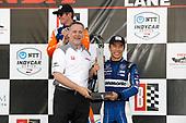 HPD President Ted Klaus, Takuma Sato, Rahal Letterman Lanigan Racing Honda, podium