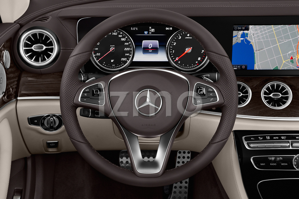 Car pictures of steering wheel view of a 2018 Mercedes Benz E Class Base 2 Door Convertible