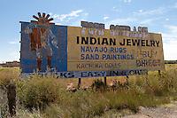 Roadside billboard for Fort Courage along Route 66 in Arizona