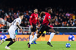 Paul Pogba of Manchester United runs with the ball during the UEFA Champions League 2018-19 match between Valencia CF and Manchester United at Estadio de Mestalla on December 12 2018 in Valencia, Spain. Photo by Maria Jose Segovia Carmona / Power Sport Images
