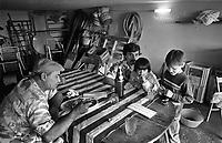 - periphery of Palermo, the Zen quarter, family of homeless living in a garage (1986) (1986)<br /> <br /> - periferia di Palermo, il quartiere Zen, famiglia di senza casa abita in un box auto  (1986)