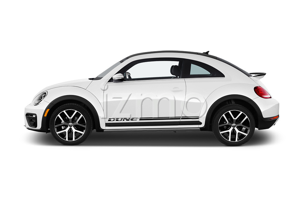 Car driver side profile view of a 2017 Volkswagen Beetle Dune 3 Door Hatchback