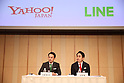 Yahoo Japan, Line Corp announce merger
