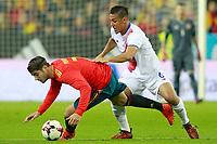 Spain's Alvaro Morata (l) and Costa Rica's Oscar Duarte during international friendly match. November 11,2017.(ALTERPHOTOS/Acero) /NortePhoto.com