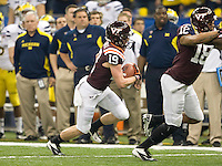 Danny Coale of Virginia Tech in action during Sugar Bowl game against Michigan at Mercedes-Benz SuperDome in New Orleans, Louisiana on January 3rd, 2012.  Michigan defeated Virginia Tech, 23-20 in first overtime.