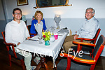 Enjoying the evening in Allo's Restaurant in Listowel on Thursday, l to r: Gerard, Noreen and Paddy Mulvihill from Listowel.