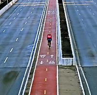 Cidade vazia, crise na saude, Coronavirus. Viaduto Antartica, Sao Paulo. 24.03.2020. Foto Juca Martins