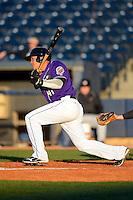 Akron Aeros third baseman Giovanny Urshela #41 during a game against the Trenton Thunder on April 22, 2013 at Canal Park in Akron, Ohio.  Trenton defeated Akron 13-8.  (Mike Janes/Four Seam Images)