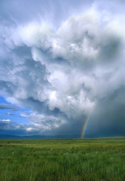 Rainbow in Arapaho National Wildlife Refuge, Walden, Colorado, USA. .  John leads private photo tours throughout Colorado. Year-round Colorado photo tours.