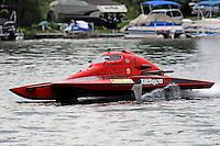 "13-14 June, 2009, APBA Inboards, Walled Lake, Novi, MI. USA.Brandon Kennedy, T-1 ""Shameless Say What?"", 1 Litre Stock hydroplane.©F. Peirce Williams 2009 USA.F.Peirce Williams.photography.ref: RAW (.NEF) File Available"