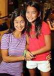 Alice Polk and her daughter Addy at the University of Texas M.D. Anderson Cancer Center and The Galleria's Back to School Fashion Show benefitting pediatric cancer patients at The Galleria Saturday August 25,2012.(Dave Rossman Photo)