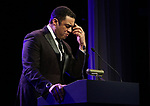 Harry Lennix  on stage at the Stage Directors and Choreographers Foundation event honoring Julie Taymor with the Mr. Abbott Award at the Bohemian National Hall on April 2, 2018 in New York City.