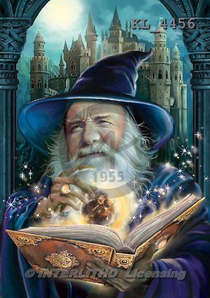 Interlitho, fantasy,wizard,castle, paintings+++++,KL4456,#n# ,Simonetta ,puzzle,puzzles