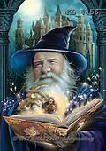 Interlitho, fantasy,wizard,castle, paintings+++++,KL4456,#n# ,Simonetta