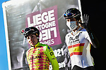 Spanish Champion Margarita Victo Garcia Canellas (ESP) Ale' BTC Ljubljana at the team presentations before the start of Liege-Bastogne-Liege Femmes 2021, running 141km from Bastogne to Liege, Belgium. 25th April 2021.  <br /> Picture: A.S.O./Gautier Demouveaux | Cyclefile<br /> <br /> All photos usage must carry mandatory copyright credit (© Cyclefile | A.S.O./Gautier Demouveaux)