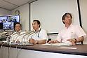 Press conference of fire on ferry Sanflower Daisetsu