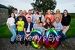 Louise Mahoney celebrates her 30th birthday at her grandparents house in Coolbaha, Listowel on Friday evening. Seated l to r: Jimmy, Margaret, Fionn, Louise and James Mahoney. Standing l to r: Niamh, Darragh, Liam, and Eamonn Mahoney, Mary, David and Dylan Toomey, Helen Roche, Jennifer, Kathleen and Alex White.