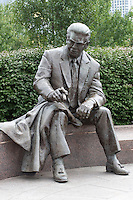 23 September 2006: Statue of Pittsburgh Steelers owner Art Rooney at Heinz Field, Pittsburgh, Pennsylvania.