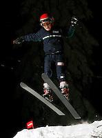 Edward Syse (10) ski jumping in Schrøderbakken, near the center of Oslo.