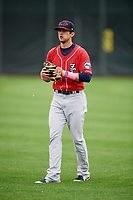 New Hampshire Fisher Cats second baseman Cavan Biggio (6) warms up before the first game of a doubleheader against the Harrisburg Senators on May 13, 2018 at FNB Field in Harrisburg, Pennsylvania.  New Hampshire defeated Harrisburg 6-1.  (Mike Janes/Four Seam Images)