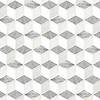Euclid a stone mosaic in polished Paperwhite, Carrara, and Thassos,is part of The Studio Line of Ready to Ship mosaics.<br />