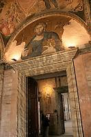 Tourist at the Kariye Museum or Saint Saviour in Chora in Istanbul, Turkey