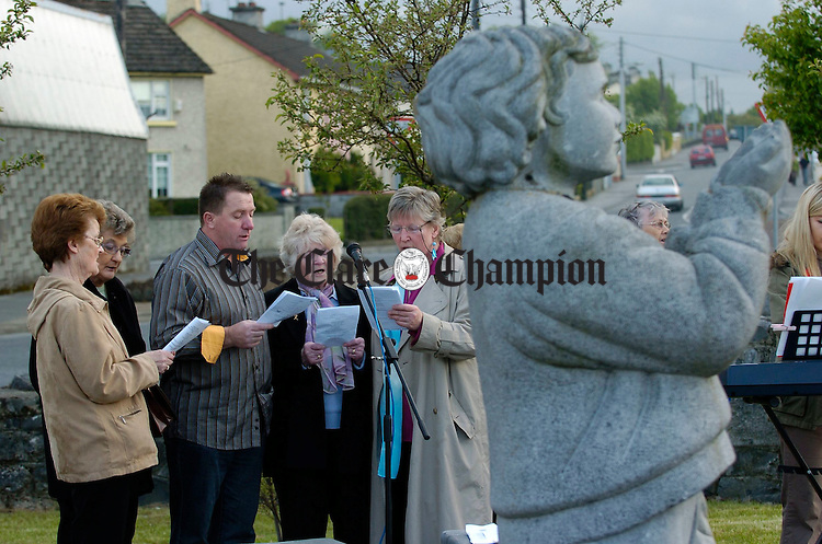 The choir sings during a mass at the Remembrance Garden, Cloughleigh Ennis organised by the Bereaved Parents Association. Photograph by John Kelly.