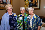 WATERBURY,  CT-051619JS24-  Current and former School Directors at the Children's Community School, from left,  Ellen Lynch (2013-present), Catherine Vitone (1978-1997) and Sister Catherine Molloy (1973-1978) at the CCS annual dinner and 50th anniversary celebration at La Bella Vista in Waterbury. <br /> Jim Shannon Republican American