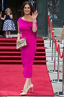 Catherine Zeta-Jones arrives at the Guildhall in Swansea