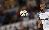 Calcio, Serie A: Roma, stadio Olimpico, 26 agosto, 2017.<br /> Inter's Miranda in action during the Italian Serie A football match between Roma and Inter at Rome's Olympic stadium, August 26, 2017.<br /> UPDATE IMAGES PRESS/Isabella Bonotto
