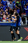 FC Internazionale Forward Stevan Jovetic (L) celebrating his goal with his teammate FC Internazionale Midfielder Roberto Gagliardini (R) during the International Champions Cup 2017 match between FC Internazionale and Chelsea FC on July 29, 2017 in Singapore. Photo by Marcio Rodrigo Machado / Power Sport Images