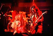 Jim 'Dandy' Mangrum of Black Oak Arkansas rocks with guitarist Stanley Knight  in Duluth Minnesota in the 1970's.