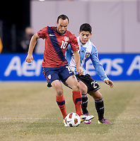 Landon Donovan, Marcos Rojo. The USMNT tied Argentina, 1-1, at the New Meadowlands Stadium in East Rutherford, NJ.