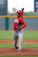 Cincinnati Reds pitcher Alexis Diaz (27) during an instructional league game against the Cleveland Indians on October 17, 2015 at the Goodyear Ballpark Complex in Goodyear, Arizona.  (Mike Janes/Four Seam Images)