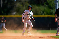 Dartmouth Big Green Trevor Johnson (36) running the bases during a game against the Omaha Mavericks on February 23, 2020 at North Charlotte Regional Park in Port Charlotte, Florida.  Dartmouth defeated Omaha 8-1.  (Mike Janes/Four Seam Images)