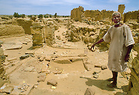 - northern Sudan, ruins of Coptic Christian  monastery of El Azadi....- Sudan settentrionale, resti del monastero cristiano copto di  El Azadi....