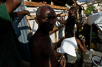Port Au Prince, Haiti, April 13, 2010.The Acra IDP camp near Delmas 32 is built in a flashflood prone valley, which will make life very difficult for hundreds of people as the rainy season approaches..
