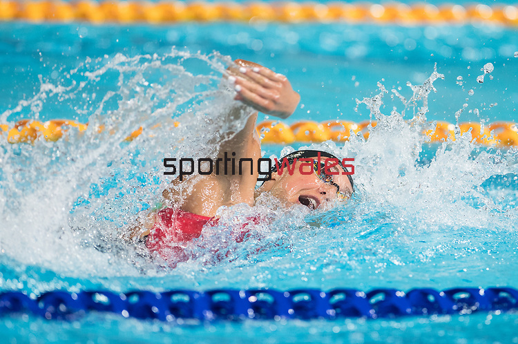Wales Chloe Tutton in action during the Womans 4x100m Freestyle relay <br /> <br /> *This image must be credited to Ian Cook Sportingwales and can only be used in conjunction with this event only*<br /> <br /> 21st Commonwealth Games - Swimming - Day 3 - 07\04\2018 - Gold Coast Optus Aquatic centre - Gold Coast City - Australia