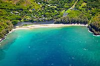 Wainiha River and Wainiha Beach Park, North Shore, Kauai, Hawaii, USA, Pacific Ocean